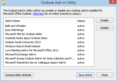 Tutorial: how to remove Outlook add-ins in Outlook 2013