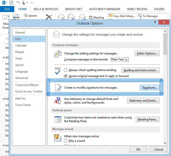 Add an Outlook signature