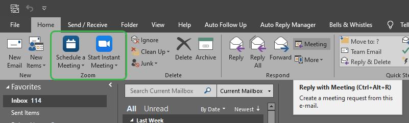 Zoom-Outlook-plugin