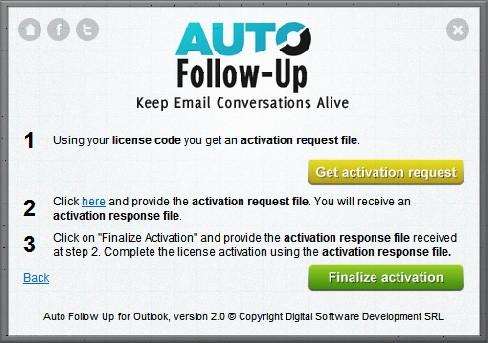 License activation request