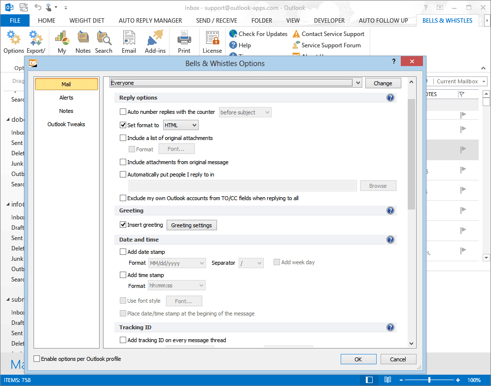 Bells & Whistles for Outlook - Boost Your Productivity