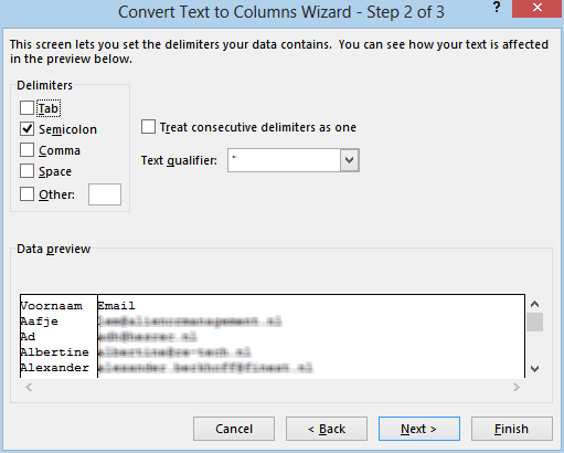 Tutorial: split CSV to columns for Easy Mail Merge