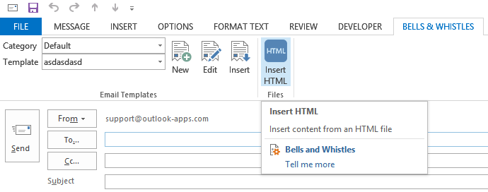 How to insert html to Outlook using addin