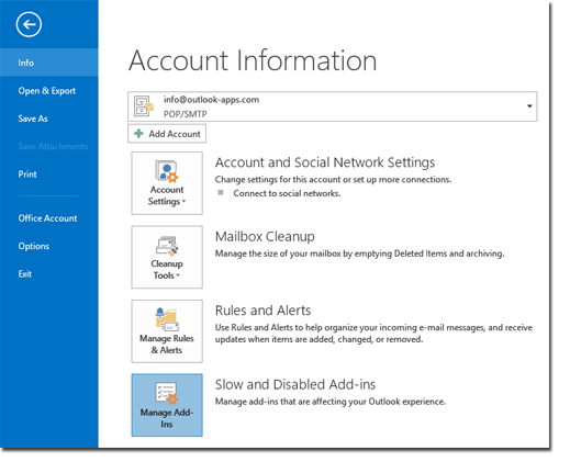 Outlook 2013 Disabled Add-ins
