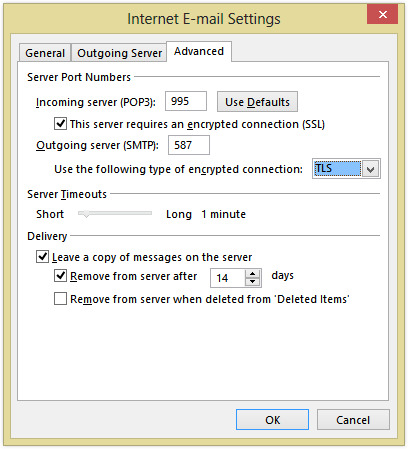 Mail server settings - Smtp and pop3 port number ...