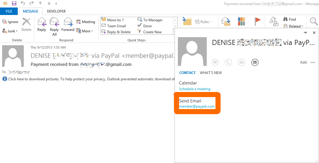Paypal E-Mail