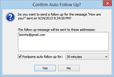 how to send follow up email reminders