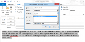 Save Outlook autotext