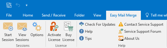Easy Mail Merge Outlook toolbar